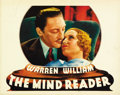 "Movie Posters:Drama, The Mind Reader (First National, 1933). Lobby Cards (2) (11"" X14""). ... (Total: 2 Items)"