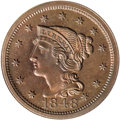 Proof Large Cents: , 1848 1C PR66 Red and Brown NGC. NGC Census: (2/0). (#1974)...