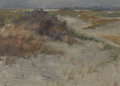 Fine Art - Painting, American, LINDLEY HOSFORD (American, 19th/20th century). The Dunes,1908. Oil on artist's board. 9-1/2 x 13 inches (24.1 x 33.0 cm...