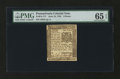 Colonial Notes:Pennsylvania, Pennsylvania June 18, 1764 6d PMG Gem Uncirculated 65 EPQ....