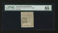 Colonial Notes:Connecticut, Connecticut October 11, 1777 4d PMG Gem Uncirculated 65 EPQ....