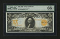 Large Size:Gold Certificates, Fr. 1186 $20 1906 Gold Certificate PMG Gem Uncirculated 66 EPQ....