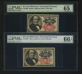 Fractional Currency:Fifth Issue, Fr. 1308 and Fr. 1309 25¢ Fifth Issue PMG Gem Uncirculated.... (Total: 2 notes)