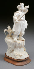 Decorative Arts, French:Other , A CONTINENTAL CARVED IVORY HORN BLOWER. 19th Century. 10 inches(25.4 cm) high. ...