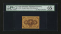 Fractional Currency:First Issue, Fr. 1230 5¢ First Issue PMG Gem Uncirculated 65 EPQ....