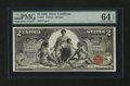 Fr. 247 $2 1896 Silver Certificate PMG Choice Uncirculated 64 EPQ