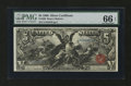 Large Size:Silver Certificates, Fr. 269 $5 1896 Silver Certificate PMG Gem Uncirculated 66 EPQ....