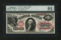 Large Size:Legal Tender Notes, Fr. 26 $1 1875 Legal Tender PMG Choice Uncirculated 64 EPQ....