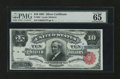 Large Size:Silver Certificates, Fr. 301 $10 1891 Silver Certificate PMG Gem Uncirculated 65 EPQ....
