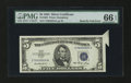 Error Notes:Attached Tabs, Fr. 1655 $5 1953 Silver Certificate. PMG Gem Uncirculated 66 EPQ.....