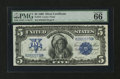 Large Size:Silver Certificates, Fr. 272 $5 1899 Silver Certificate PMG Gem Uncirculated 66 EPQ....