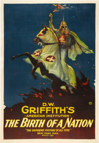 "The Birth of a Nation (Epoch Producing Corp., R-1921). One Sheet (28"" X 41"")"