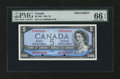 Canadian Currency: , BC-39S $5 1954 Modified Portrait Specimen. ...