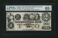 Canadian Currency: , Toronto, ON- International Bank of Canada $2 Sept. 15, 1858 Ch. #380-10-08-12. ...