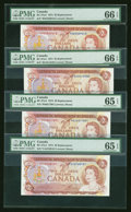 Canadian Currency: , Four BC-47aA $2 1974 Notes PMG Graded. ... (Total: 4 notes)