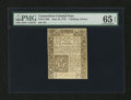 Colonial Notes:Connecticut, Connecticut June 19, 1776 1s3d Uncancelled PMG Gem Uncirculated 65EPQ....