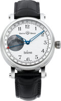Timepieces:Wristwatch, Martin Braun Stainless Steel Selene No. 033. ...