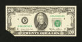 Error Notes:Foldovers, Fr. 2075-D $20 1985 Federal Reserve Note. Gem Crisp Uncirculated.. ...