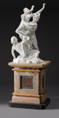 Marble:Contemporary, AN ITALIAN MARBLE FIGURAL GROUP OF THE RAPE OF PERSEPHONE. 40-1/2inches (102.9 cm) high, excluding base. ... (Total: 2 Items)