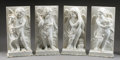 Marble:Contemporary, A SET OF FOUR ITALIAN CARRARA MARBLE RELIEFS. 28-3/8 inches (71.9cm) high, each. ... (Total: 4 Items)