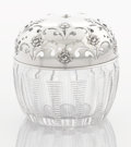 Silver Holloware, American:Other , AN AMERICAN SILVER AND GLASS STRING HOLDER. Gorham ManufacturingCo., Providence, Rhode Island, circa 1940. Marks: (lion-anc...