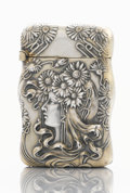 Silver Smalls:Match Safes, AN AMERICAN SILVER AND SILVER GILT MATCH SAFE. Unger Bros., Newark,New Jersey, circa 1900. Marks: UB (conjoined), STE...
