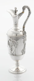 Silver & Vertu:Hollowware, A VICTORIAN SILVER WINE JUG. Stephen Smith, London, England, 1867-1868. Marks: (lion passant), (leopard's head), (duty mark)...