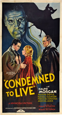 """Condemned to Live (Chesterfield, 1935). Three Sheet (41"""" X 81"""")"""