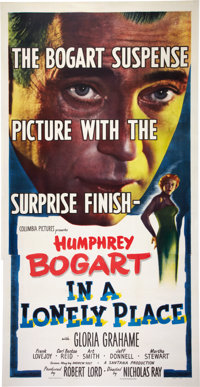 """In a Lonely Place (Columbia, 1950). Three Sheet (41"""" X 81"""")"""