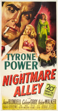 "Movie Posters:Film Noir, Nightmare Alley (20th Century Fox, 1947). Three Sheet (41"" X 81"")....."