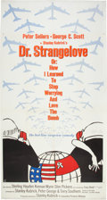"Movie Posters:Comedy, Dr. Strangelove or: How I Learned to Stop Worrying and Love the Bomb (Columbia, 1964). Three Sheet (41"" X 81"").. ..."