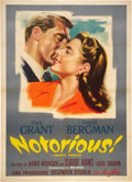 "Movie Posters:Hitchcock, Notorious (Lux Films, R-1950s). Italian 2 - Folio (39"" X 55"").. ..."