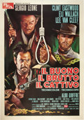 "Movie Posters:Western, The Good, the Bad and the Ugly (PEA, R-1969). Italian 4 - Folio(55"" X 78"").. ..."