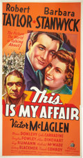 "Movie Posters:Crime, This is My Affair (20th Century Fox, 1937). Three Sheet (41"" X 81"")Style A. Crime.. ..."