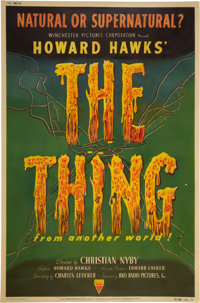 """The Thing from Another World (RKO, 1951). Poster (40"""" X 60"""")"""