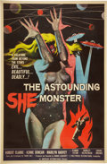 "Movie Posters:Science Fiction, The Astounding She Monster (American International, 1958). Poster(40"" X 60"").. ..."
