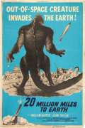 "Movie Posters:Science Fiction, 20 Million Miles to Earth (Columbia, 1957). Poster (40"" X 60"").. ..."