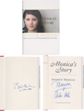 Movie/TV Memorabilia:Autographs and Signed Items, Bill Clinton and Monica Lewinski Signed Copy of Monica'sStory....
