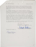 Music Memorabilia:Autographs and Signed Items, Charles Mingus Signed Agreement....