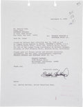 Music Memorabilia:Autographs and Signed Items, Freddie Hubbard Signed Letter....