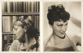 Movie/TV Memorabilia:Autographs and Signed Items, Gloria Swanson Photo Portraits by Clarence Sinclair Bull....(Total: 2 )