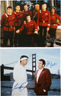 Movie/TV Memorabilia:Autographs and Signed Items, Star Trek IV and Star Trek V Cast-Signed Photos....(Total: 2 )