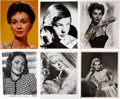 Movie/TV Memorabilia:Autographs and Signed Items, Lana Turner and Other Film Noir Femme Fatales Signed Photos.... (Total: 6 )