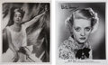 Movie/TV Memorabilia:Autographs and Signed Items, Joan Crawford and Bette Davis Signed Photos.... (Total: 2 )