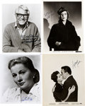 Movie/TV Memorabilia:Autographs and Signed Items, Cary Grant and Others Signed Photos.... (Total: 4 )