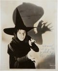 Movie/TV Memorabilia:Autographs and Signed Items, Margaret Hamilton Autographed Wizard of Oz Photo....
