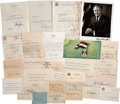 Movie/TV Memorabilia:Autographs and Signed Items, Assorted Political Figures Signed Items.... (Total: 30 )