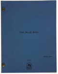 Movie/TV Memorabilia:Documents, The Blue Bird Script....