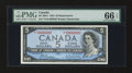 Canadian Currency: , BC-39bA $5 1954. ...
