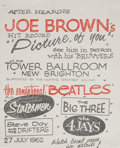 Music Memorabilia:Posters, The Beatles Tower Ballroom Concert Handbill (1962)....
